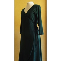 3/4 or Long Sleeve Cotton Wrap Dress