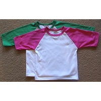 Childs 2 Tone 3/4 sleeve T-shirt