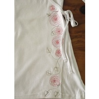 Embroidered Cotton Wrap Top